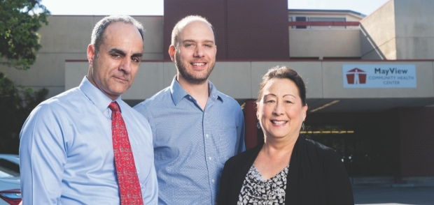 From left: Baldeep Singh, MD, Jonathan Glazer Shaw, MD, MS, and Kirsti Weng, MD, MPH.