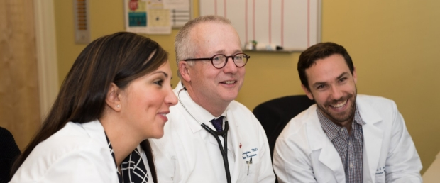 Banner image with Robert Harrington, MD, Chair of the Department of Medicine