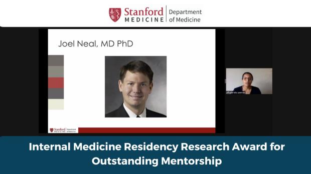 Internal medicien residency research award for oustanding mentorship