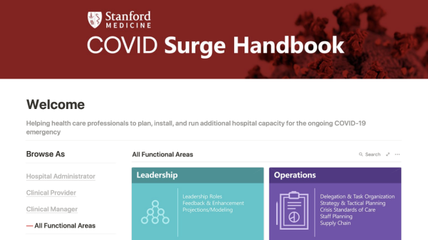 COVID Surge Handbook Offers Guidance for Health Care Professionals