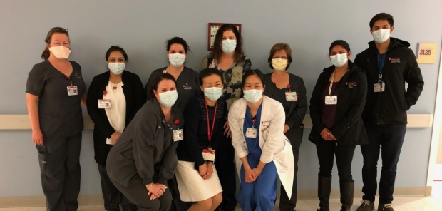 Stanford ValleyCare faculty and staff on the first day of clinical trial enrollment