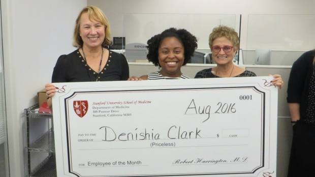 Denishia Clark - August 2016 Employee of the Month