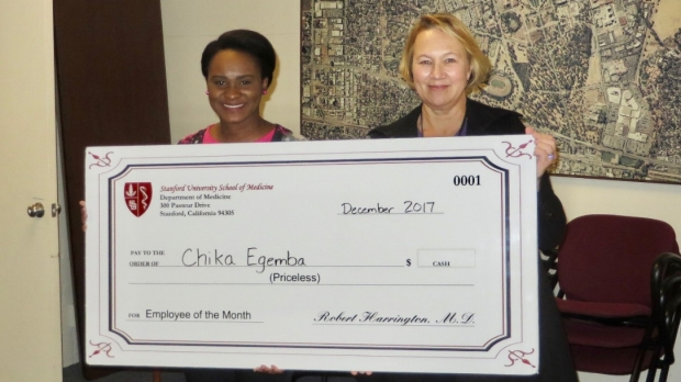 Chika Egemba- December 2017 Employee of the Month
