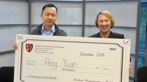 Peng Yuan- December 2018 Employee of the Month