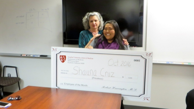 Shauna Cruz - October 2016 Employee of the Month