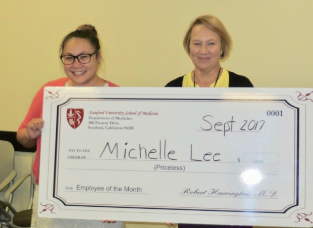 Employee of the Month Michelle Lee