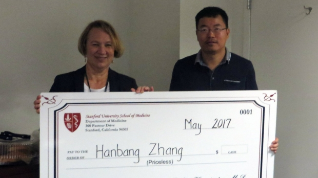Hanbang Zhang - May 2017 Employee of the Month