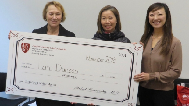 Lan Duncan- November 2018 Employee of the Month