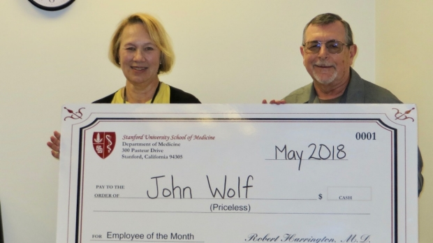 John Wolf- May 2018 Employee of the Month
