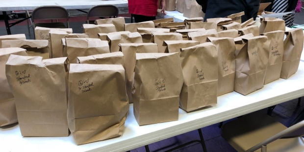 Bagged meals for Project WeHOPE